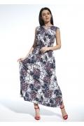 Длинное платье без рукавов из тонкой ткани Enny 250196