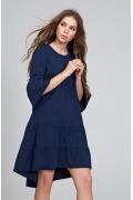 Тёмно-синее платье широкого покроя Donna Saggia DSP-284-62
