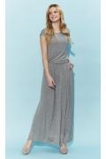 Длинное трикотажное платье серого цвета Zaps Valery
