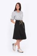Чёрная хлопковая юбка Emka Fashion 694-65/selita
