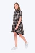 Асимметричное платье-рубашка Emka Fashion PL-592/deoza