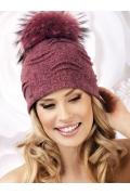 Женская шапка из шерсти с помпоном Willi Nanu