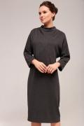 Тёмно-серое трикотажное платье TopDesign B7 155