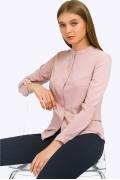 Строгая блузка цвета пыльной розы Emka B2300/oswalt
