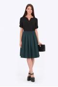 Тёмно-зеленая юбка Emka Fashion 552-grenata