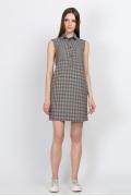 Платье-рубашка в мелкую клетку Emka Fashion PL-493/kira