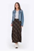 Длинная юбка в косую клетку Emka Fashion 314-nadezhda