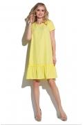 Жёлтое летнее платье с воланом Donna Saggia DSP-276-47