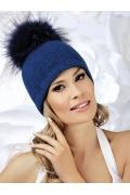 Женская шерстяная шапка с большим помпоном Willi Izydawa