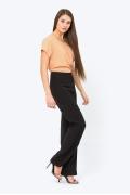 Черные женские брюки-клёш Emka D-041/ivetta