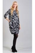 Трикотажное платье-баллон TopDesign B8 022