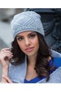 Серая шапка ажурной вязки Kamea Paula