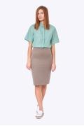 Офисная юбка песочного цвета Emka Fashion 663/lidiya