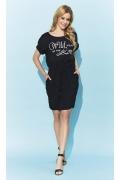 Чёрное летнее платье на кулиске Zaps Esser