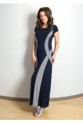 Длинное летнее платье из трикотажа TopDesign A7 051