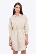 Летнее платье-рубашка из хлопка Emka PL-611/mavli