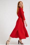 Платье-миди красного цвета Emka PL864/vivid