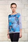 Голубая женская блузка Issi 171132