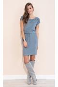 Летнее трикотажное платье джинсового цвета Zaps Naos