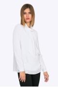Белая блузка с воротником-шалью Emka B2276/agnis