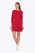 Красное платье А-силуэта Emka PL-643/aglaya