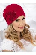 Женская шапка с драпировкой и цветами Willi Alondra