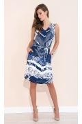 Летнее сине-белое платье Zaps Oma