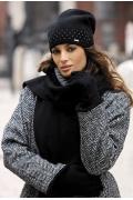 Элегантная шапочка чёрного цвета Kamea Drina