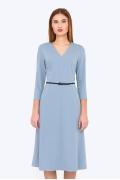 Повседневное платье цвета серенити Emka Fashion PL-564/ramona