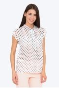 Лёгкая летняя блузка в горошек Emka b 2230/kiana
