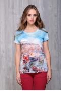 Женская футболка с принтом Bravissimo 171104