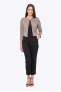 Чёрные женские брюки для офиса Emka D-011/milisa