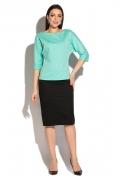 Блузка свободного кроя мятного цвета Donna Saggia DSВ-35-81t