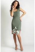 Платье оливкового цвета TopDesign A6 022