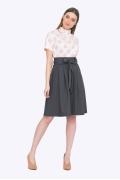 Тёмно-серая юбка с бантом Emka S247/letisiya