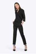Чёрные укороченные брюки-дудочки Emka D135/djolin