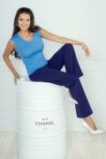 Женский топ голубого цвета Andovers 205618