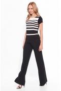 Женская чёрно-белая блузка Sunwear W20-3