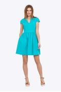 Летнее платье с V-образным вырезом Emka PL-504/harit