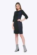 Двухцветное чёрно-фиолетовое платье Emka PL761/giacinta