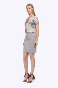 Короткая прямая юбка Emka Fashion S766/gabriella