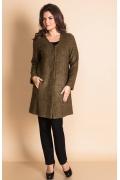 Женское пальто без воротника TopDesign AX 002