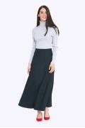 Длинная юбка-трапеция тёмно-синего цвета Emka S314/lorita