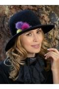 Женская шерстяная шляпа с помпонами Willi Riviola