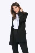 """Чёрный жакет в стиле """"деловой шик"""" Emka ML526/banksy"""