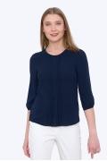 Тёмно-синяя блузка Emka b 2170/ neapol (коллекция весна 2017)