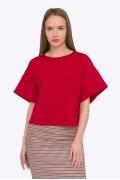 Красная укороченная блузка с широким рукавом Emka B2202/current
