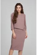 Асимметричная блузка Donna Saggia DSB-45-46