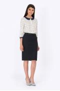 Чёрная офисная юбка Emka Fashion 620-adela