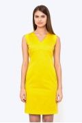 Жёлтое платье-футляр Emka PL-624/astra